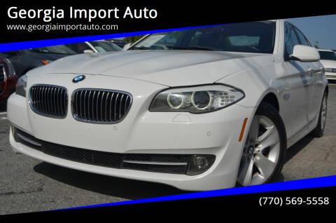 2012 BMW 5 Series for sale at Georgia Import Auto in Alpharetta GA