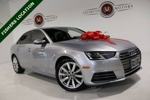 2017 Audi A4 for sale at Unlimited Motors in Fishers IN