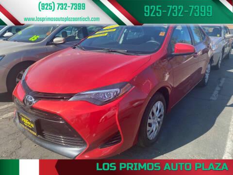 2017 Toyota Corolla for sale at Los Primos Auto Plaza in Antioch CA