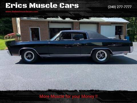 1971 Chevrolet Monte Carlo for sale at Erics Muscle Cars in Clarksburg MD