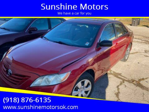 2007 Toyota Camry for sale at Sunshine Motors in Bartlesville OK