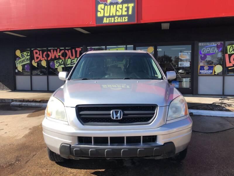 2005 Honda Pilot for sale at Sunset Auto Sales & Repair in Lasalle CO