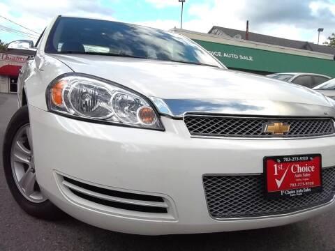2007 Chevrolet Impala for sale at 1st Choice Auto Sales in Fairfax VA