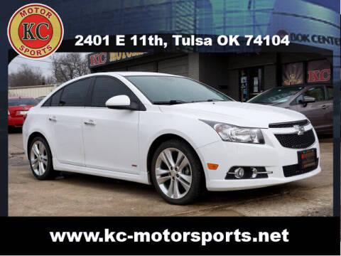 2014 Chevrolet Cruze for sale at KC MOTORSPORTS in Tulsa OK