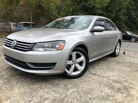 2012 Volkswagen Passat for sale at Atlas Auto Sales in Smyrna GA