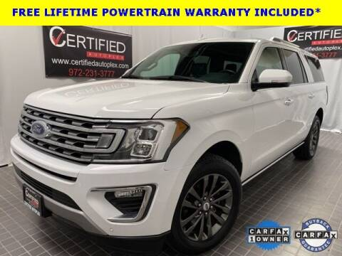 2020 Ford Expedition MAX for sale at CERTIFIED AUTOPLEX INC in Dallas TX