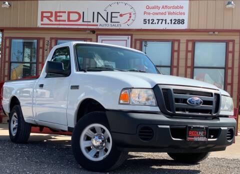2008 Ford Ranger for sale at REDLINE AUTO SALES LLC in Cedar Creek TX