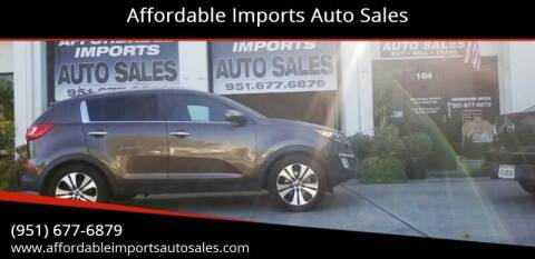 2012 Kia Sportage for sale at Affordable Imports Auto Sales in Murrieta CA