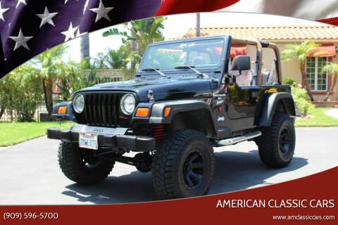 1999 Jeep Wrangler for sale at American Classic Cars in La Verne CA