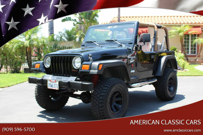 1999 Jeep Wrangler for sale at American Classic Cars in La Verne CA