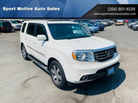 2013 Honda Pilot for sale at Sport Motive Auto Sales in Seattle WA
