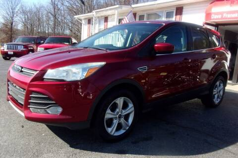 2013 Ford Escape for sale at Dave Franek Automotive in Wantage NJ