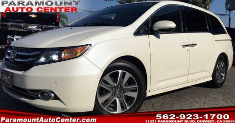 2016 Honda Odyssey for sale at PARAMOUNT AUTO CENTER in Downey CA