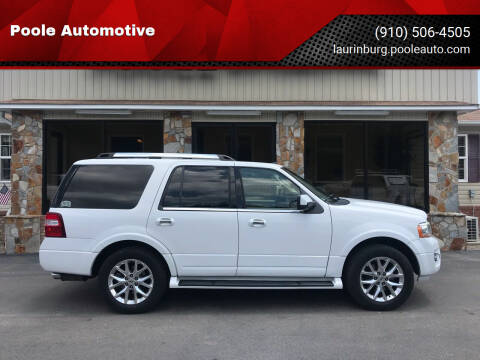 2016 Ford Expedition for sale at Poole Automotive in Laurinburg NC