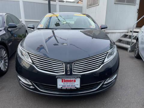 2014 Lincoln MKZ Hybrid for sale at Elmora Auto Sales in Elizabeth NJ