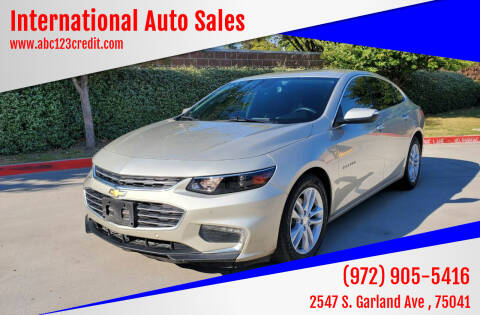 2016 Chevrolet Malibu for sale at International Auto Sales in Garland TX