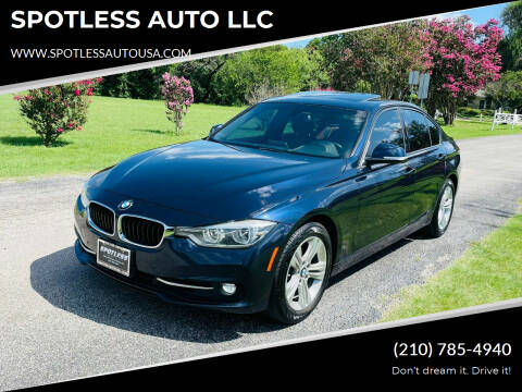 2016 BMW 3 Series for sale at SPOTLESS AUTO LLC in San Antonio TX