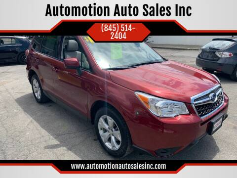 2015 Subaru Forester for sale at Automotion Auto Sales Inc in Kingston NY