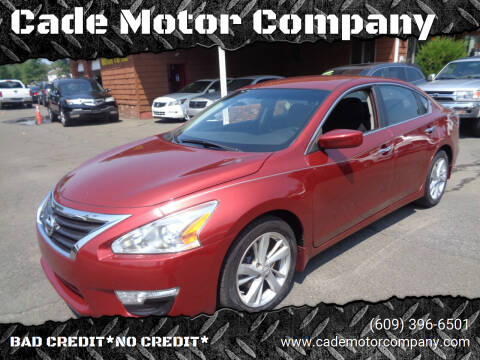 2014 Nissan Altima for sale at Cade Motor Company in Lawrence Township NJ