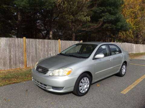 2003 Toyota Corolla for sale at Wayland Automotive in Wayland MA