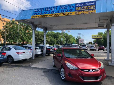 2013 Hyundai Elantra for sale at Auto Smart Charlotte in Charlotte NC