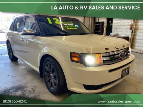 2012 Ford Flex for sale at LA Auto & RV Sales and Service in Lapeer MI