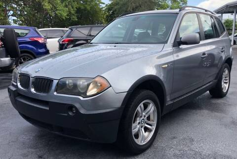 2005 BMW X3 for sale at Meru Motors in Hollywood FL