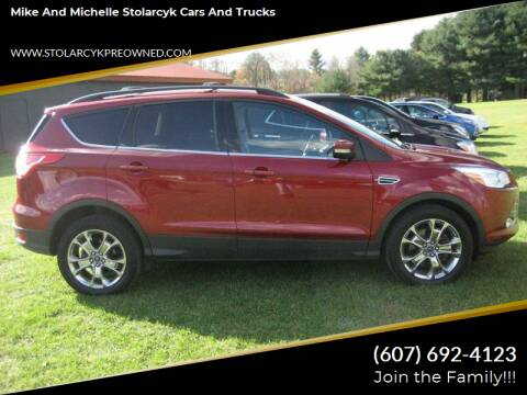 2013 Ford Escape for sale at Mike and Michelle Stolarcyk Cars and Trucks in Whitney Point NY