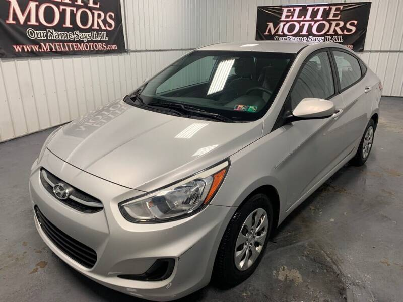 2015 Hyundai Accent for sale at Elite Motors in Uniontown PA