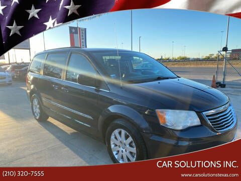 2013 Chrysler Town and Country for sale at Car Solutions Inc. in San Antonio TX