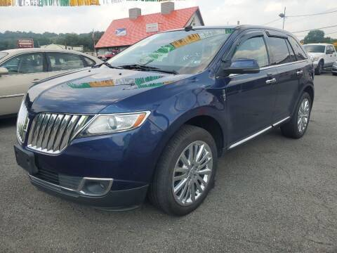 2012 Lincoln MKX for sale at Mulligan's Auto Exchange LLC in Paxinos PA