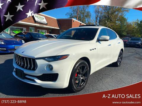 2018 Maserati Levante for sale at A-Z Auto Sales in Newport News VA