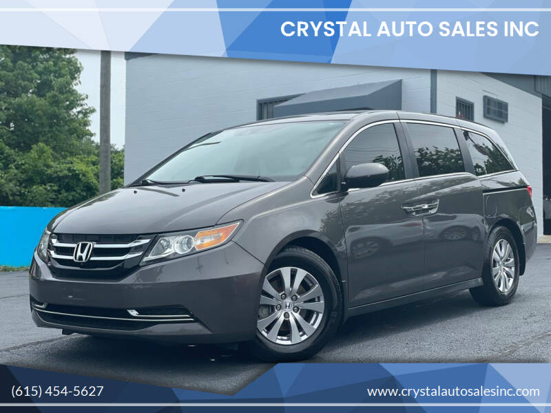 2014 Honda Odyssey for sale at Crystal Auto Sales Inc in Nashville TN