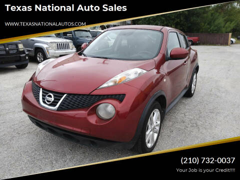 2012 Nissan JUKE for sale at Texas National Auto Sales in San Antonio TX