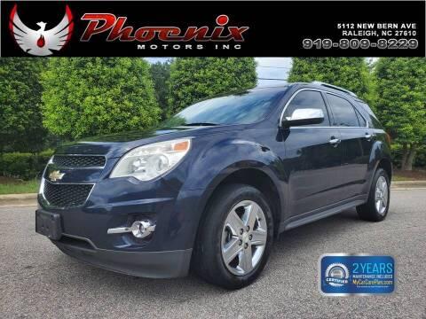 2015 Chevrolet Equinox for sale at Phoenix Motors Inc in Raleigh NC
