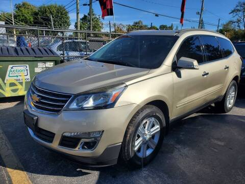 2014 Chevrolet Traverse for sale at America Auto Wholesale Inc in Miami FL