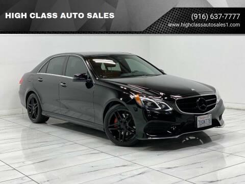 2014 Mercedes-Benz E-Class for sale at HIGH CLASS AUTO SALES in Rancho Cordova CA