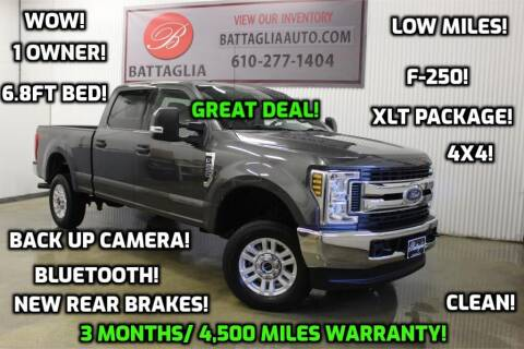 2018 Ford F-250 Super Duty for sale at Battaglia Auto Sales in Plymouth Meeting PA
