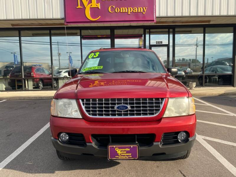 2003 Ford Explorer for sale at Greenville Motor Company in Greenville NC