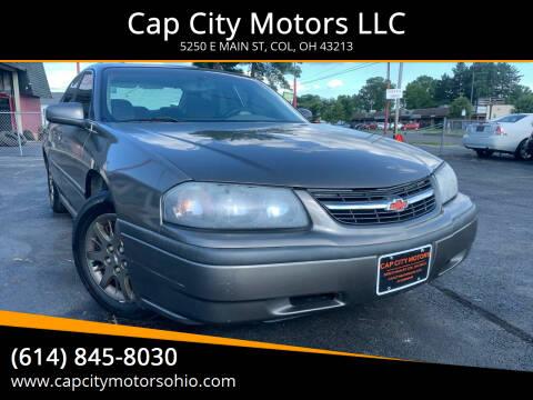 2002 Chevrolet Impala for sale at Cap City Motors LLC in Columbus OH