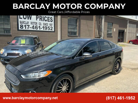 2013 Ford Fusion for sale at BARCLAY MOTOR COMPANY in Arlington TX