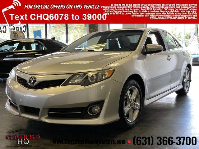 2012 Toyota Camry for sale at CERTIFIED HEADQUARTERS in St James NY