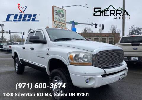 2006 Dodge Ram Pickup 3500 for sale at SIERRA AUTO LLC in Salem OR