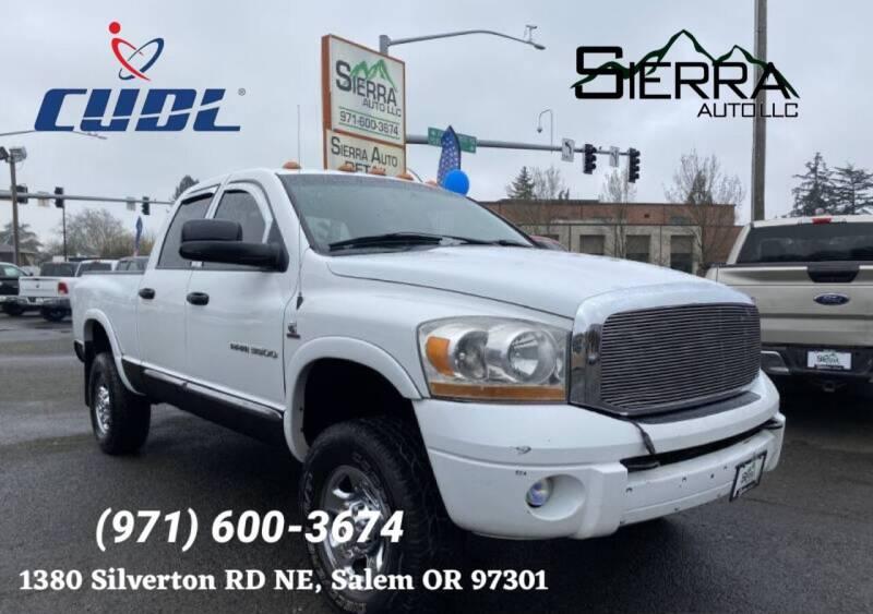 2006 Dodge Ram Pickup 3500 for sale at SIERRA AUTO LLC in Salem OR
