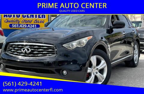 2011 Infiniti FX35 for sale at PRIME AUTO CENTER in Palm Springs FL