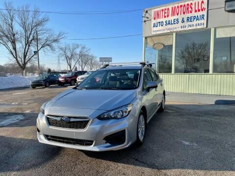 2018 Subaru Impreza for sale at United Motors LLC in Saint Francis WI