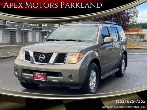 2006 Nissan Pathfinder for sale at Apex Motors Parkland in Tacoma WA