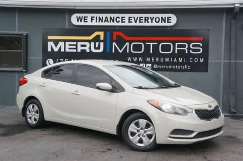 2014 Kia Forte for sale at Meru Motors in Hollywood FL