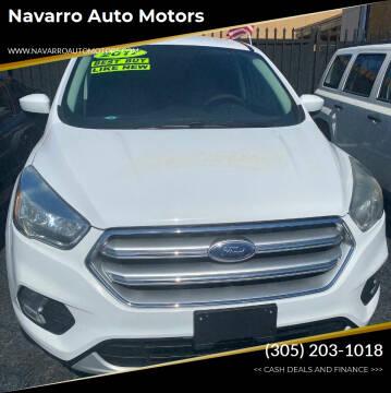 2017 Ford Escape for sale at Navarro Auto Motors in Hialeah FL