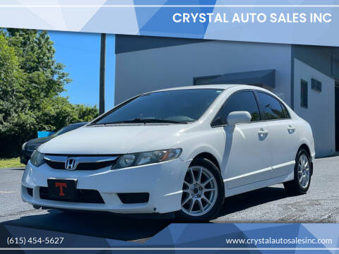 2010 Honda Civic for sale at Crystal Auto Sales Inc in Nashville TN
